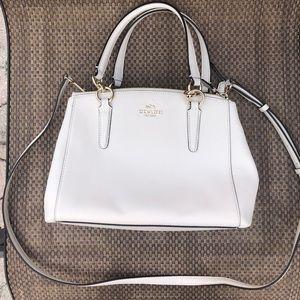 Coach White Top Handle Crossbody Bag